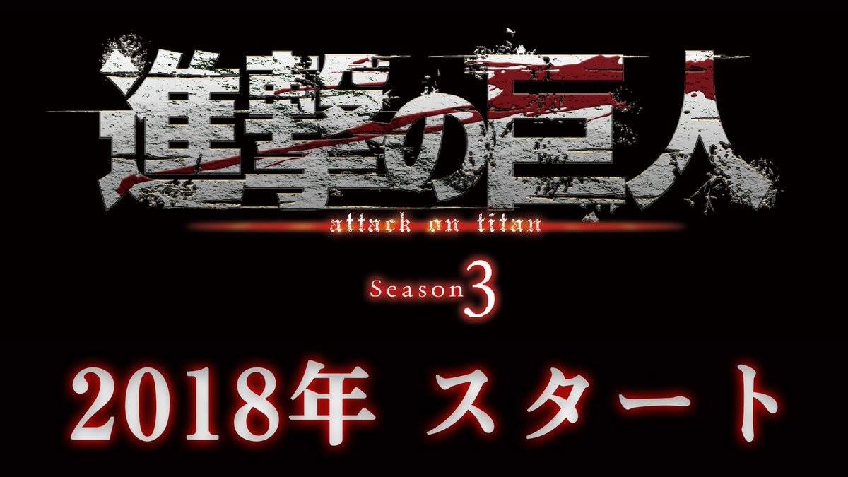 Attack on Titan sezon 3 zapowiedziany na 2018 rok